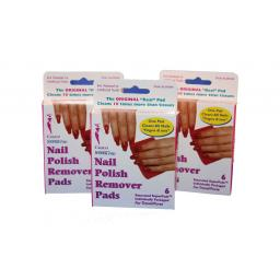 48 x packs of 6 (288) Calico Nail Polish remover pads | Non Acetone | To Clear