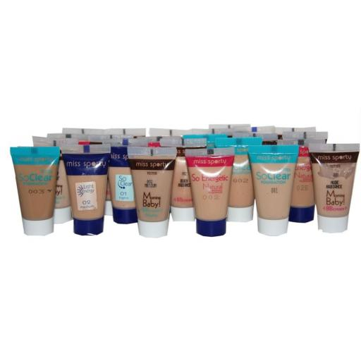 24 x Miss Sporty Foundation samples | Inc. BB Cream, So Clear & So Energetic |