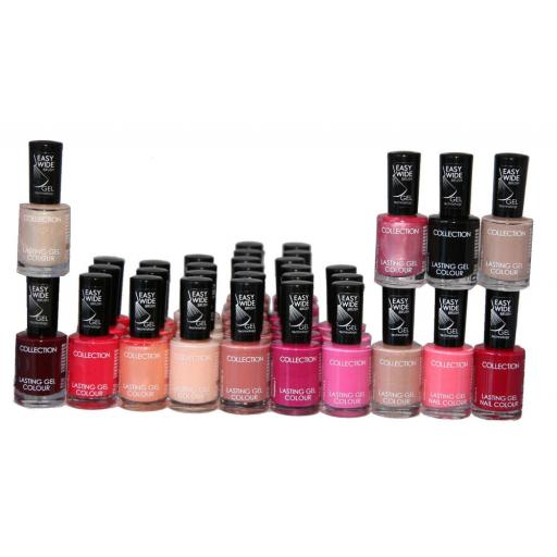 33 x Collection Lasting Gel Colour Nail Polish | 12 shades | RRP £83 | Job Lot