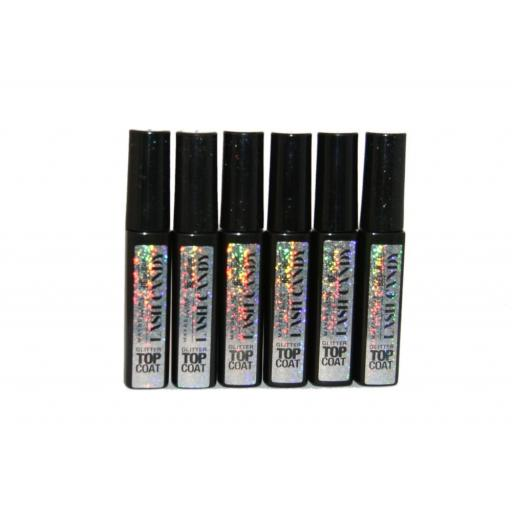 6 x Maybelline Lash Candy Be Brilliant Glitter Top Coat | New | Wholesale
