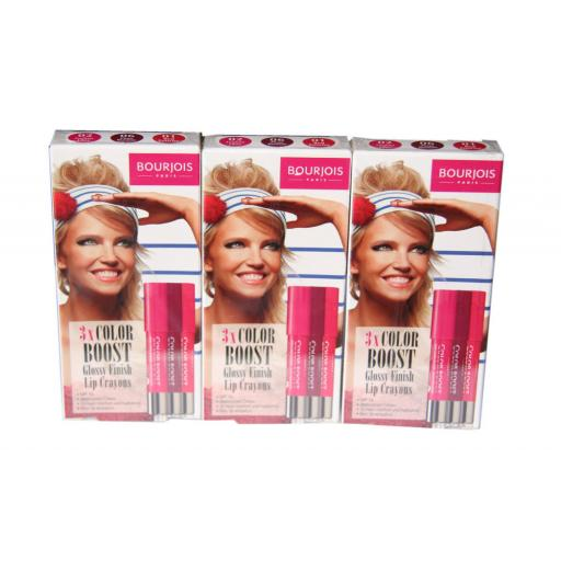 9 x Bourjois Color Boost Glossy Finish Lip Crayons | RRP £72 | Wholesale