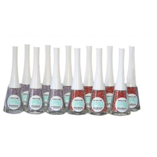 12 x Bourjois Manicure Toppings | 2 types | Lilac Sand & Coral Bikini | RRP £108