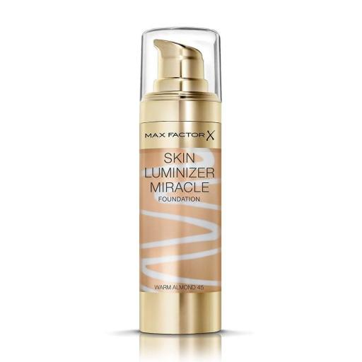 Max Factor Skin Luminizer Miracle Foundation | Warm Almond 45 | Healthy Glow