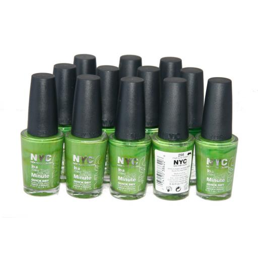 72 x NYC Quick Dry Nail Polish | One shade High Line Green | Clearance