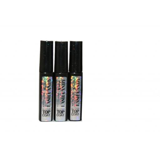 3 x Maybelline Lash Candy Be Brilliant Glitter Top Coat | New | Wholesale