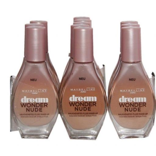 3 x Maybelline Dream Wonder Nude Foundation | Sun Beige | Fawn | Cameo | RRP £24