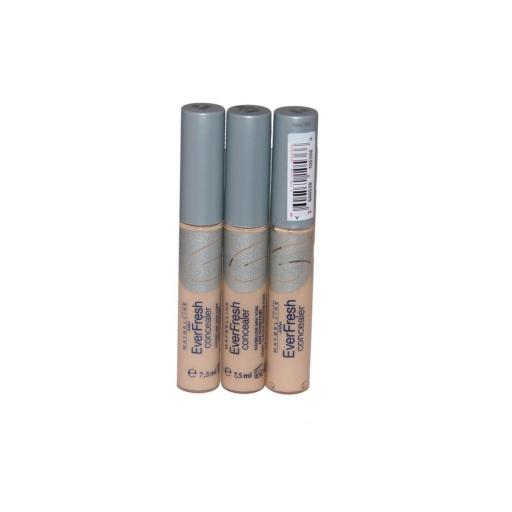 3 x Maybelline New York EverFresh Concealer | Light Beige | Lightweight Formula