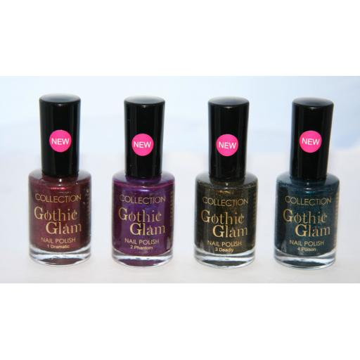 36 x COLLECTION GOTHIC GLAM NAIL POLISH | 4 SHADES | RRP £115 | WHOLESALE