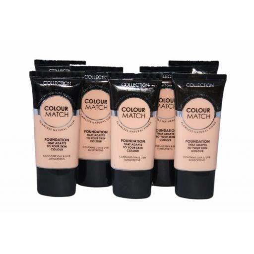 6 x Collection Colour Match Foundation Tubes | Ivory | RRP £18 | Wholesale