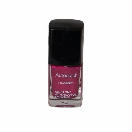 Autograph by M&S All in One Nail Colour with Argan Oil 11ml | Cranberry
