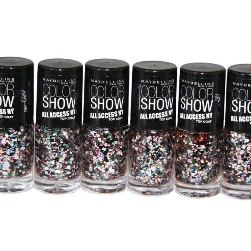24 x Maybelline Color Show All Access Nail Polish Topcoat 7ml | Broadway Lights