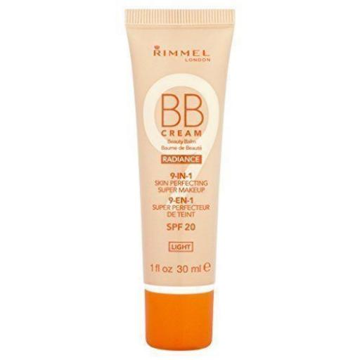 Rimmel Radiance BB Cream Beauty Balm 9 in 1 Super Makeup 30ml | Very Light