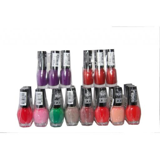 30 x Astor Fashion Studio Nail Polish | 10 shades | RRP £65 | Great Shades