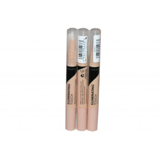 3 x Collection Illuminating Touch Brightening Concealer | All Shade Glow RRP £12