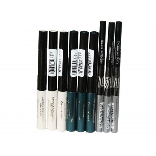 9 x Max Factor Color X-Pert & Intensity Eyeliners | 3 shades | RRP £63