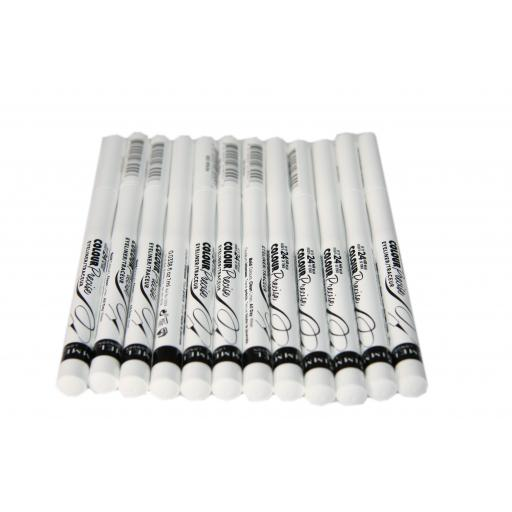12 x Rimmel Colour Precise Eyeliner | 003 White | RRP £72 | Clean & Dramatic