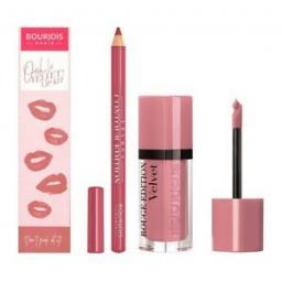 Bourjois-Ooh-La-Velvet-Lip-Kit-Shade-Don-039-t-Pink-Of-It-The-Perfect-Pout