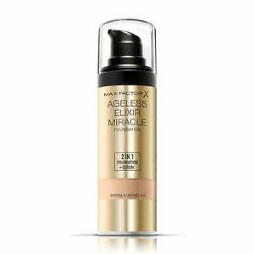 Max Factor Ageless Elixir 2-in-1 Foundation and Serum | SPF 15 | 45 Warm Almond