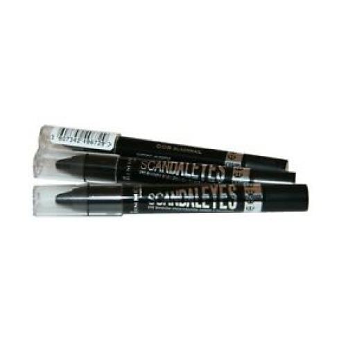 3 x Rimmel Scandaleyes | Eye Shadow stick | 008 Blackmail | 24 H | Waterproof