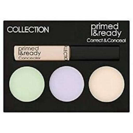 3 x COLLECTION Primed & Ready | Correct & Conceal Palette | Ultimate Coverage |