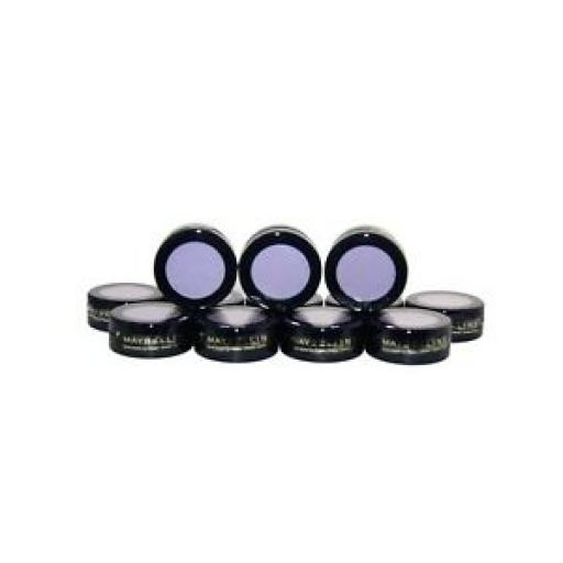 12 x Maybelline Natural Accents Mono Eyeshadow | Light Lilac | RRP £59