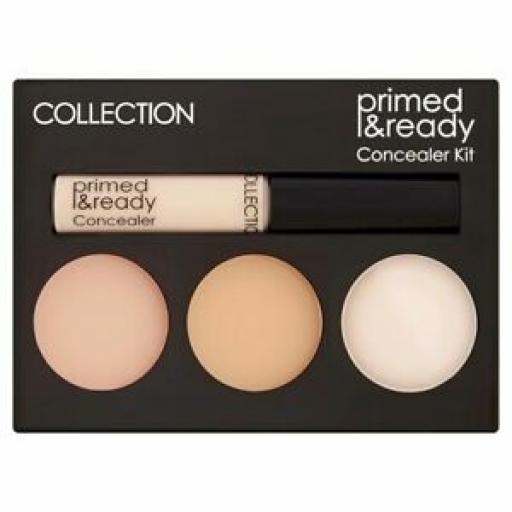 3 x COLLECTION Primed & Ready | Concealer Kit Palette | Ultimate Coverage |