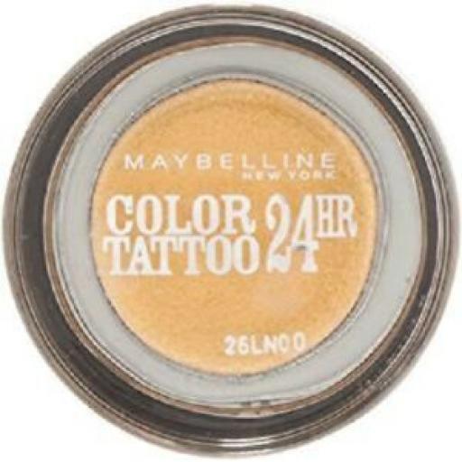 2 x Maybelline Colour Tattoo 24hr Eyeshadow | 75 24K Gold |