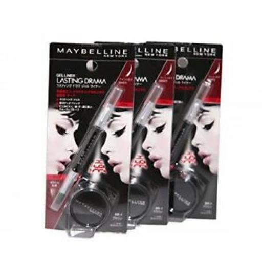 3 x Maybelline Lasting Drama Gel Eyeliner | Brown | RRP £27 | Gorgeous Gel Liner