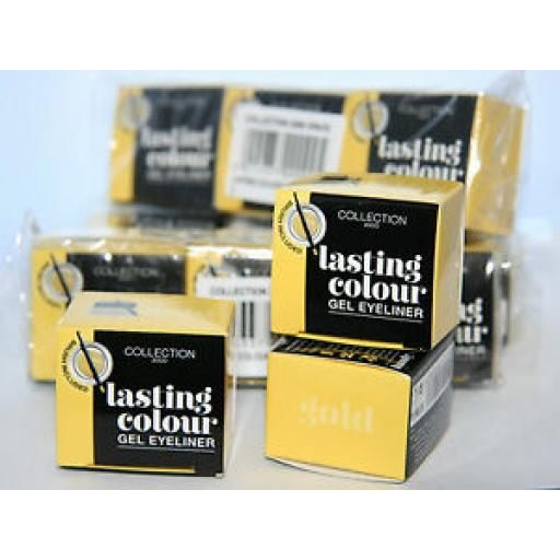 12 x COLLECTION LASTING COLOUR GEL EYELINER | GOLD | RRP £60 | WHOLESALE LOT