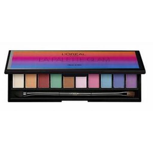 Loreal La Eye Palette Color Riche Glam | Symphony of 10 Pop Glam Eyeshadows |