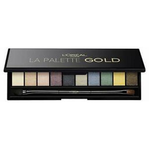 Loreal La Eye Palette Color Riche Gold | Symphony of 10 Gold Sprinkled Shadows |