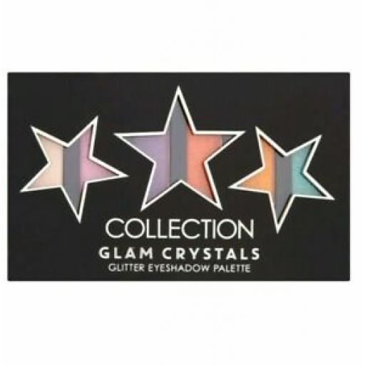 Collection Glam Crystals Palette | Glitter Eyeshadow Palette | 6 Shades |