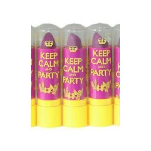 3 x Rimmel Keep Calm and Party Lip Balm | RRP £9 | Violet Blush | Job Lot