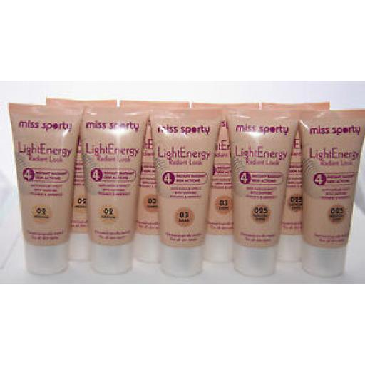 6 x Miss Sporty Light Energy Radiant Look Foundation | RRP £20 | Wholesale