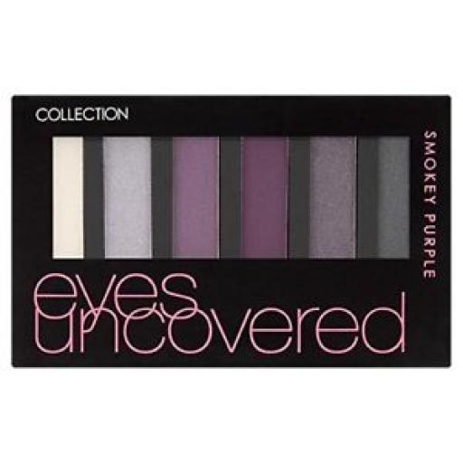 3 x Collection Eyes Uncovered Eyeshadow Palette | Smokey Purple | Velvet Texture