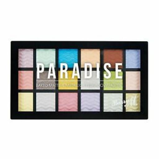Barry M | Paradise | Matte & Metallic Baked EyeShadow Palette | 18 Shades
