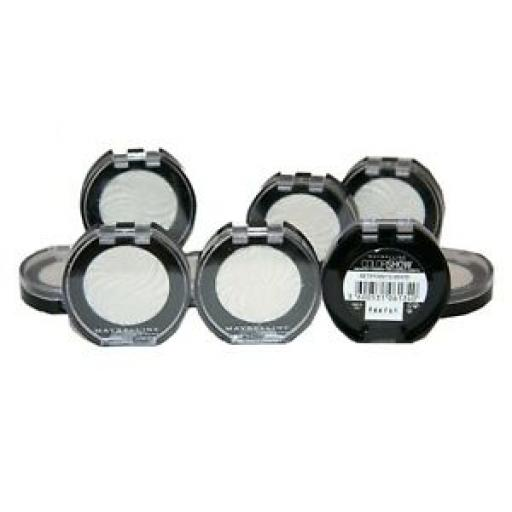 12 x Maybelline Colorshow Mono Eyeshadow | Tiffany's White 12 | RRP £59.88