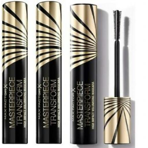3 x Max Factor Masterpiece Transform Mascara Mascara | Black | Impact wand