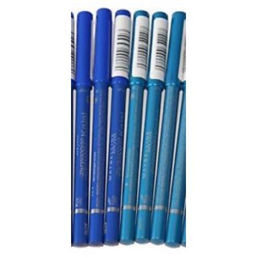 6 x Maybelline Expression Kajal Eye Liner Pencils | Blues | Wholesale Cosmetics
