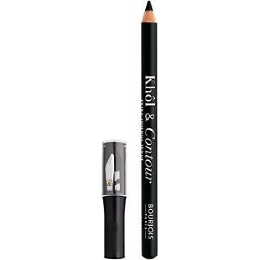 Bourjois Khol & Contour Eye Pencil and Sharpener | Noir Expert | Extra Long Wear