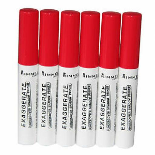6 x Rimmel Exaggerate Undercover Shadow Primer   RRP £30  