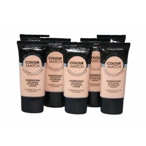 12 x Collection Colour Match Foundation Tubes | Porcelain | RRP £36 | Wholesale