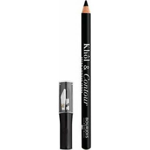 Bourjois Khol & Contour Eye Pencil and Sharpener | 001 Noir-Issime |