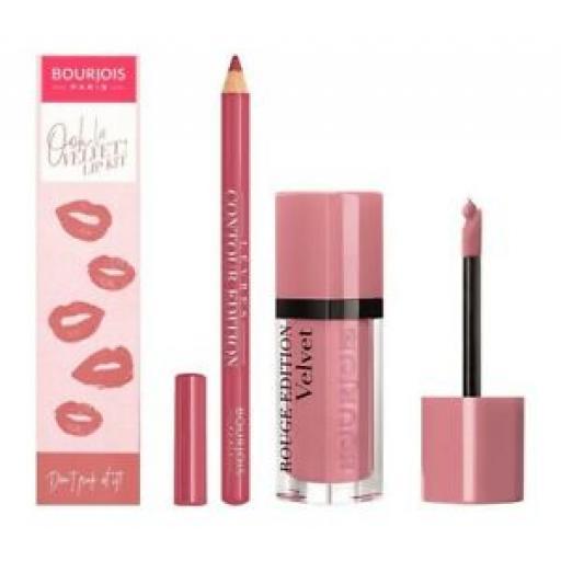 Bourjois Ooh La Velvet Lip Kit | Shade Don't Pink Of It | The Perfect Pout |