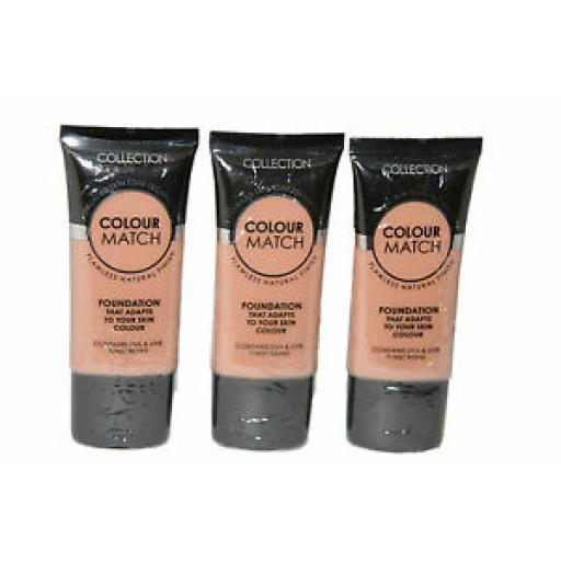 3 x Collection Colour Match Foundation Tubes | Golden | RRP £9 | Wholesale
