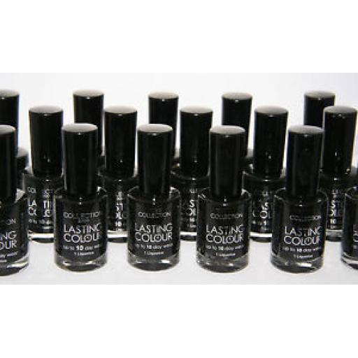 12 x Collection 2000 Black Nail Polish | Wholesale Cosmetics