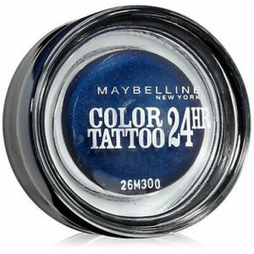 3 x Maybelline Color Tattoo | 24HR Gel Cream Eye Shadow | 25 Everlasting Navy |