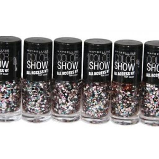 75 x Maybelline Color Show All Access Nail Polish Topcoat 7ml | Broadway Lights