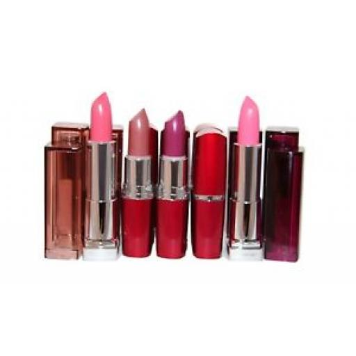 12 x Maybelline Color Sensational & Extreme Lipsticks| RRP Over £80 | 4 shades