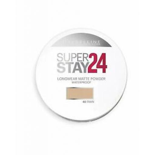Maybelline Superstay 24h Waterproof Powder | Choose Shade | Sun Beige | Fawn |